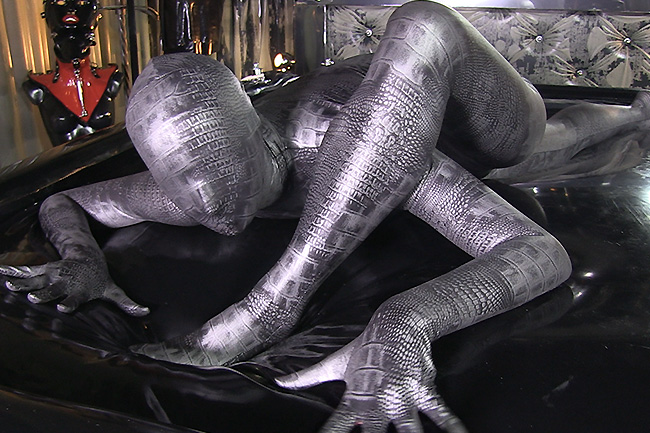 The Rubber Zentai Doll